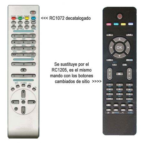 Mando a distancia original RC1072 OKI, Hitachi, Bluesky, etc.
