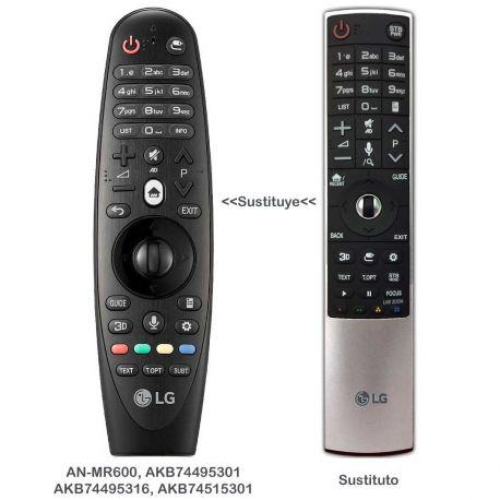 Mando a distancia SmartTV LG AKB75455601 sustituye al LG AKB74495301, LG AKB74495316, LG AKB74515301