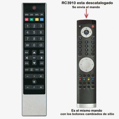 Mando a distancia RC3910 para OKI sustituido por el modelo RC1800, Toshiba Schneider