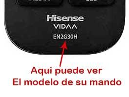 Localizar modelo mando Hisense EN2G30H