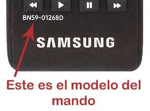 Comprobación modelo mando Samsung Bn59-01268d y Bn59-01303a