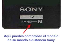 verificar mando a distancia Sony RM-ED062